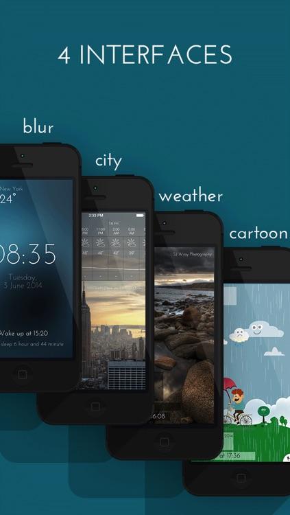 Talking Weather alarm clock - free screenshot-3
