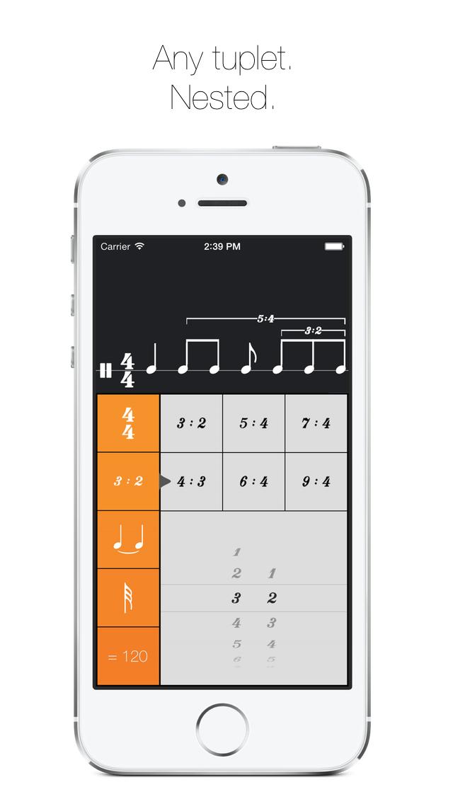 Rhythm Calculator - Advanced rhythm trainer and metronome screenshot four