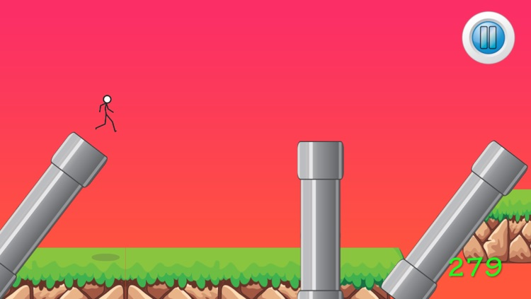 Flappy Stickman Obstacle Course screenshot-3