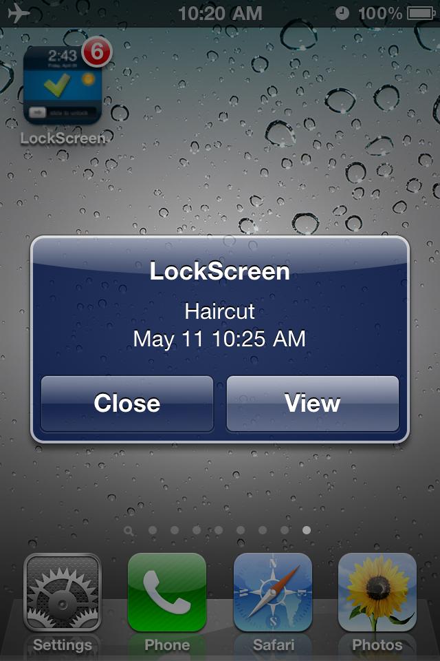 Make LockScreen (To-do List & Weather) Screenshot
