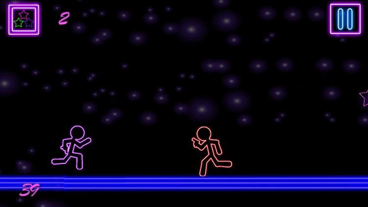 Glow Stick-Man Run : Neon Laser Gun-Man Runner Race Game For Free