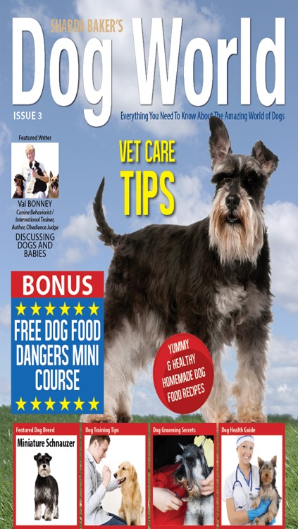 Sharda Bakers Dog World Magazine - Everything you need to know about the amazing world of dogs. screenshot-0
