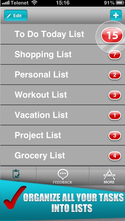 To Do-List for Getting Things Done! (create simple todo lists and check mark all your finished tasks)