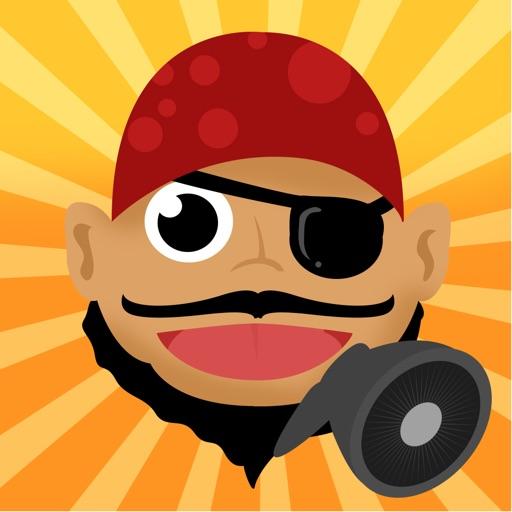 Sprechender Pirat - Talking Pirate: Spiel für Kinder, Eltern, Freunde und Familie mit Piraten!