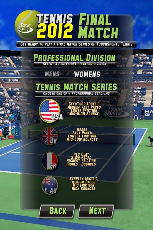 TouchSports Tennis 2012 screenshot-4