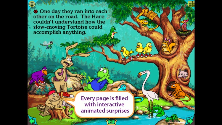 Tortoise and the Hare – Wanderful interactive storybook in UK English and French screenshot-3