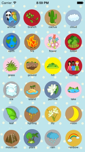 Baby English-learn Nature (Kids Game, Baby Cognitive, Learn Words ...