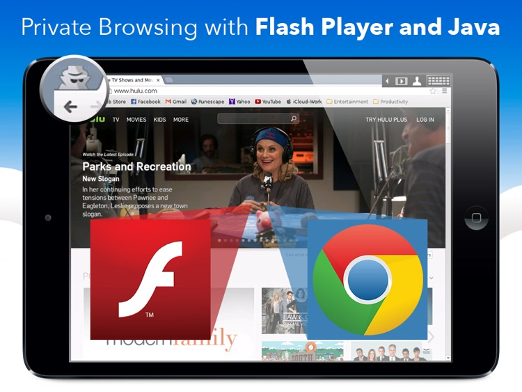 privateBrowser with Flash Player - iPad edition