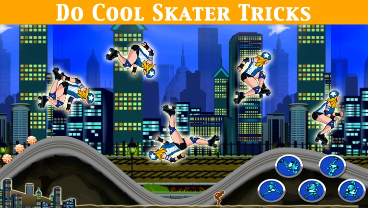 A Roller Derby Candy Dash - Free Downhill Racing Game screenshot-4