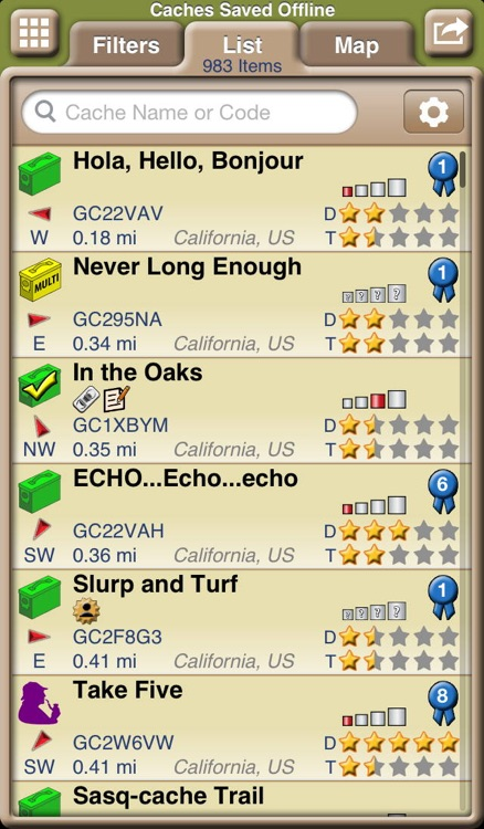 Geocaching with Geosphere screenshot-3