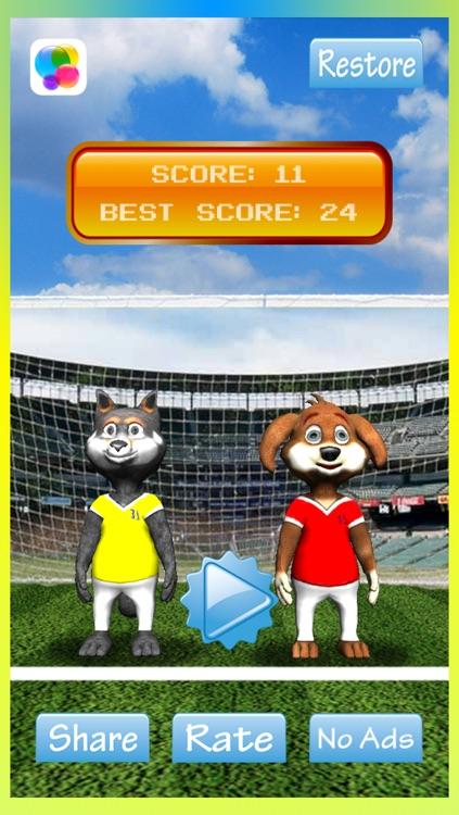 Cool 3D Soccer Dogs - New Superstar Head Football Jugglers Game screenshot-3