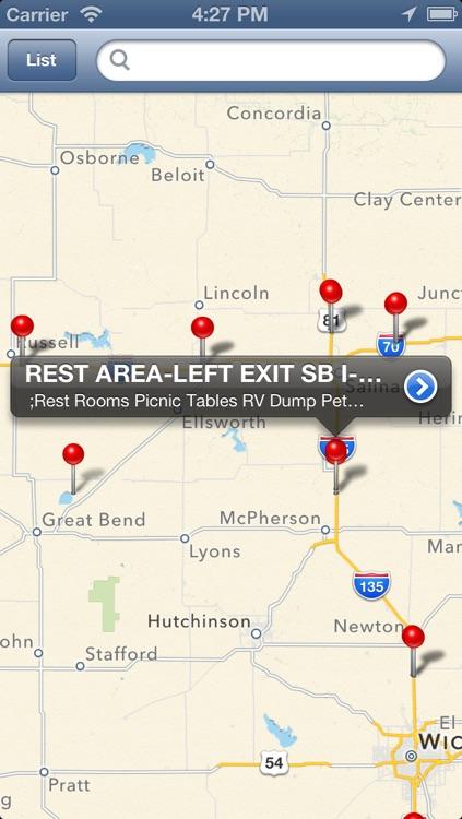 Rest Area Locator for US highway - Pro screenshot-3
