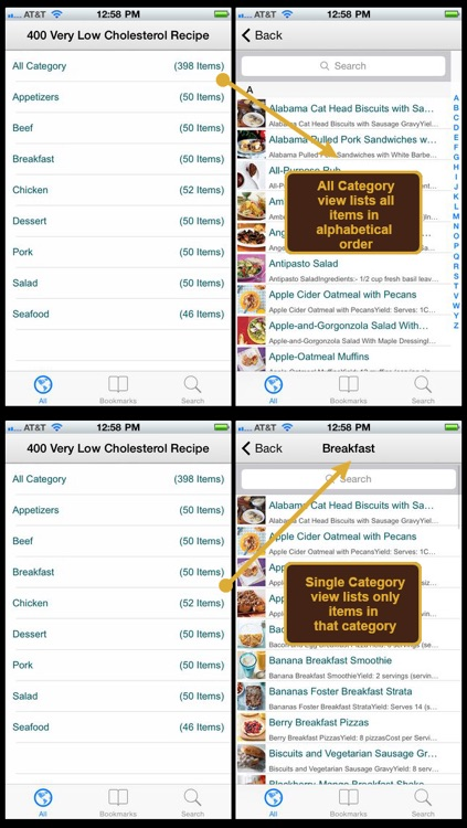 400 Very Low Cholesterol Recipe screenshot-1