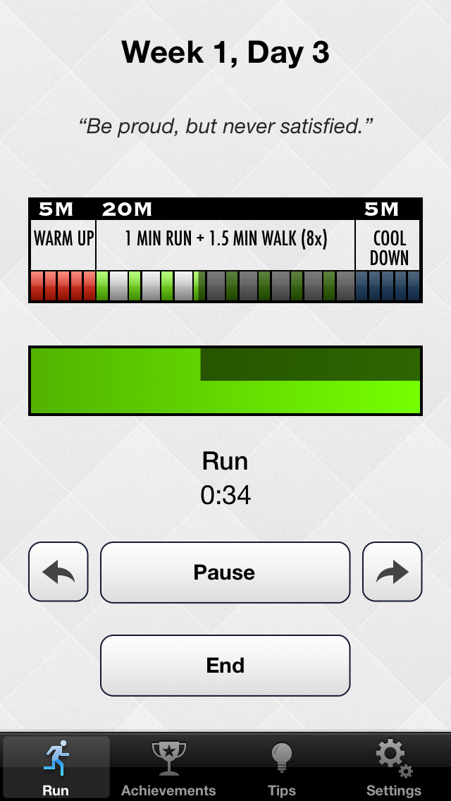 5k - Lose weight, burn calories and get fit & healthy in 8 weeks! Screenshot on iOS
