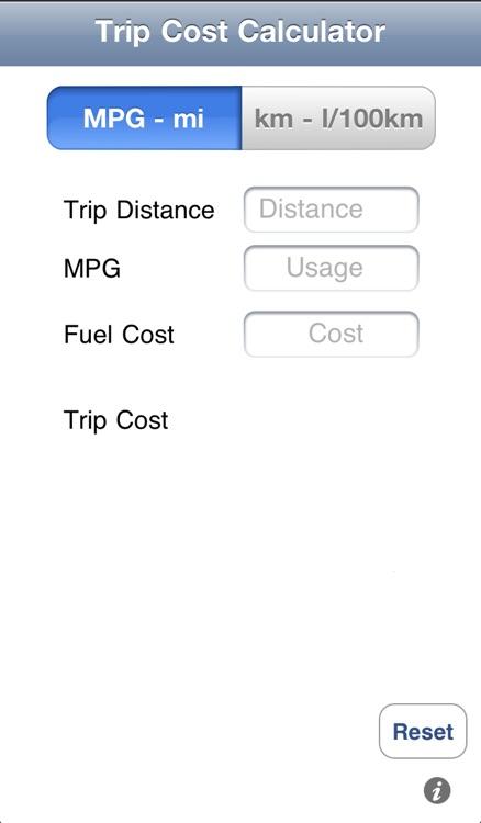 Trip Cost Calculator