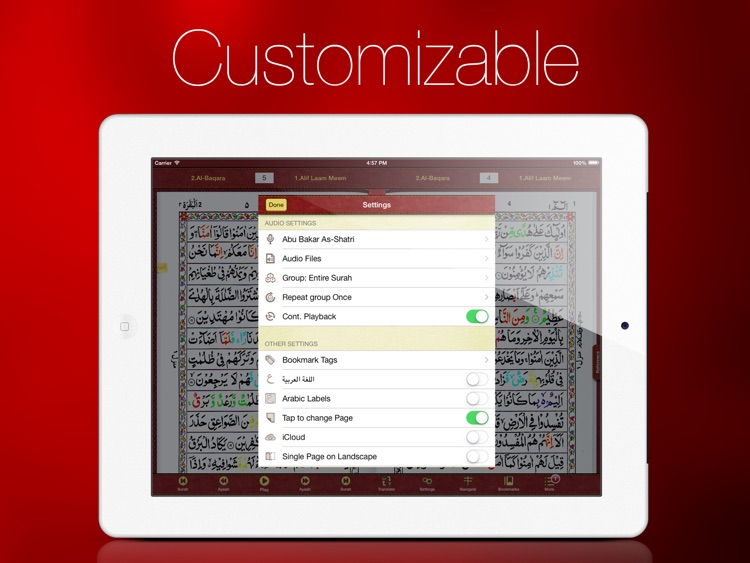 Tajweed Quran in Urdu/Persian Script With Tajweed Guide for iPad screenshot-3