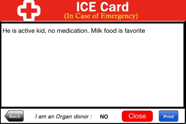 ICE, In Case of Emergency