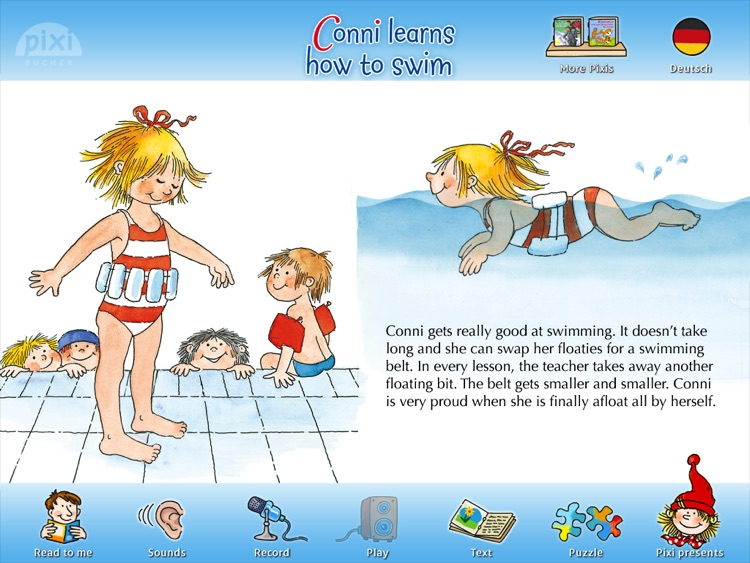 """Pixie Book """"Connie Learns How to Swim"""""""
