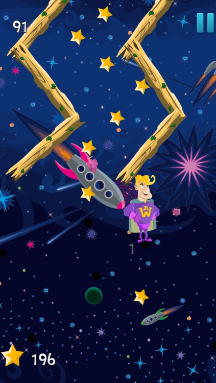 A super-hero in space – action jumping game from another galaxy with heroes screenshot-3