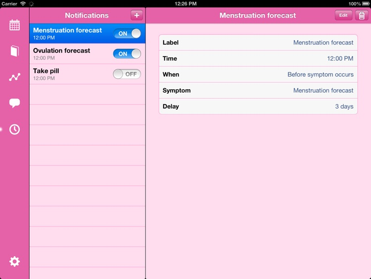 Menstrual Calendar for iPad screenshot-4