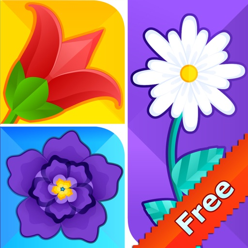 What's The Flower Icon Pop Quiz - Cute Word Guessing English Learning Puzzle Game For Kids FREE