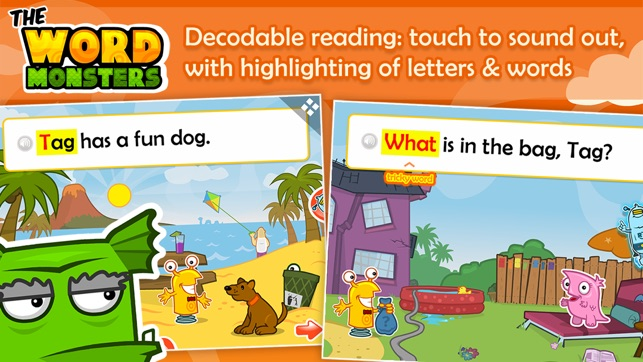 ‎The Word Monsters: Learn to Read Screenshot