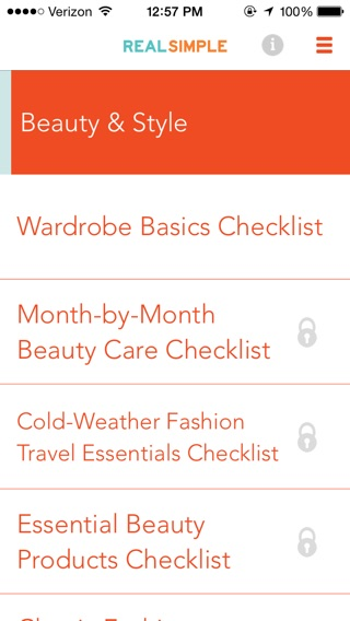 Real Simple Checklists Screenshot