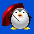 leyenda pingüino - aves de bungee con el paraguas gratis icon