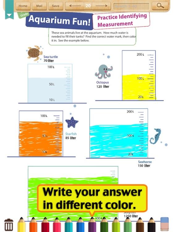 Kids Math-Measurement Worksheets(Grade 3)