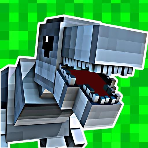 3D Pixel Dino-saur Block-s Run-ning Survival Game For Free
