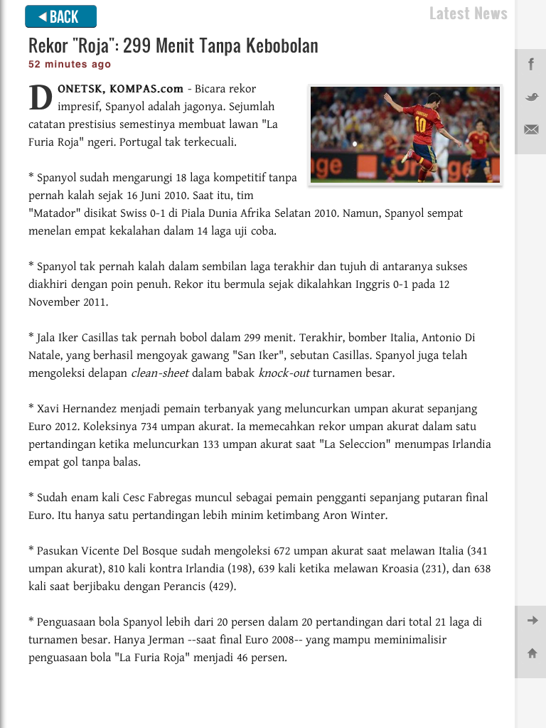 Kompas Bola for iPad Screenshot