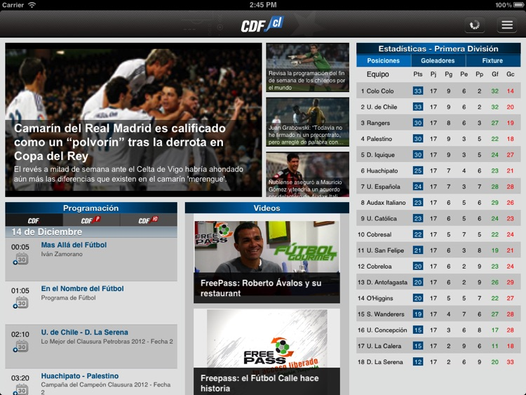 CDF Chile para iPad screenshot-0