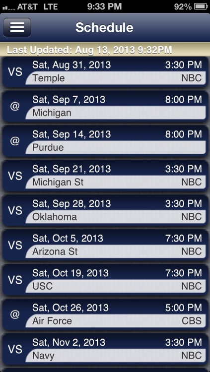 Notre Dame Football Live screenshot-2
