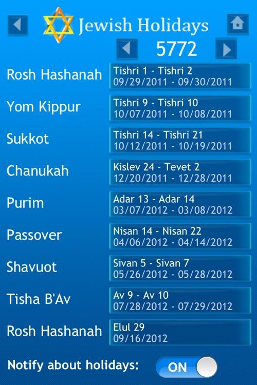 iJew Cal Pro - Hebrew/Gregorian Calendar screenshot-4