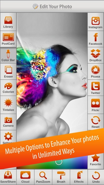 Photo Splash FX - editor with multiple color stroke to splash, colorize, recolor and share on instagram, Facebook & dropbox screenshot-4