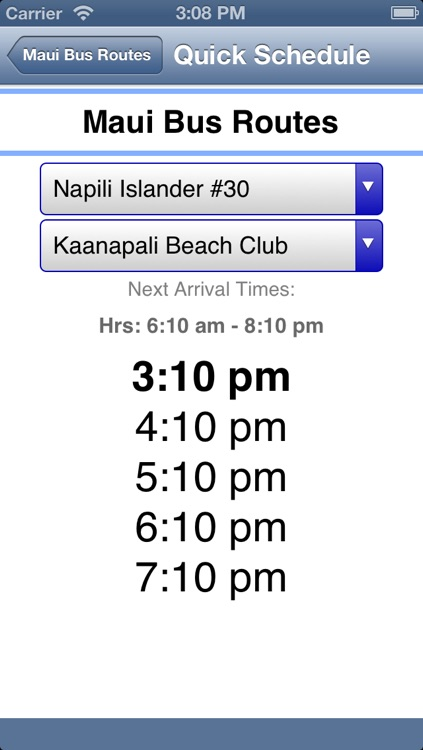 Maui Bus Routes screenshot-2