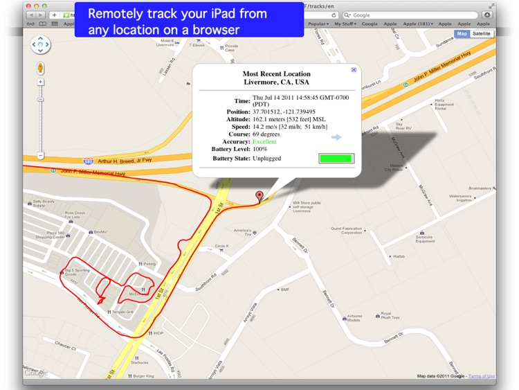 Tracking for iPad