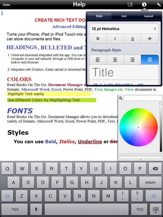 Assistant - for iPad Word Processor screenshot-3