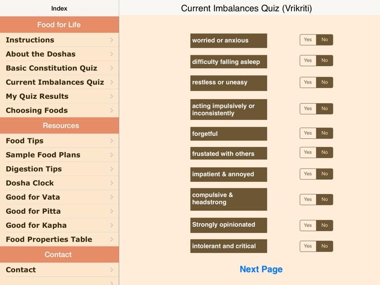 Dosha Diet: Ayurveda Food Planner screenshot-3