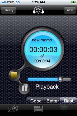 Screenshot of iRec Voice Recorder Pro