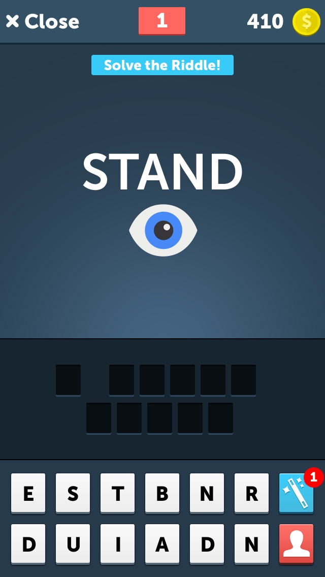 Stump Riddles - Guess the Word!  Challenging Rebus Puzzles & Brain Teasers Screenshot