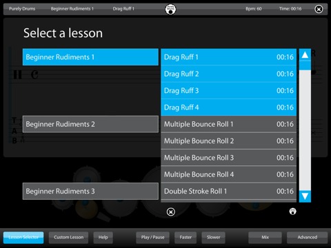Drums - Learn Lessons & Practice Drumming Drum Skills Rhythm Training Teach  Music Patterns Educational with Purely Sight Reading Metronome | App Price