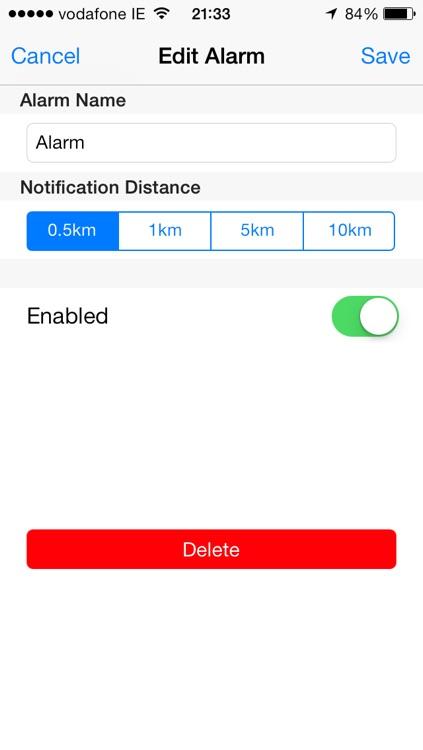 Destination Alarm