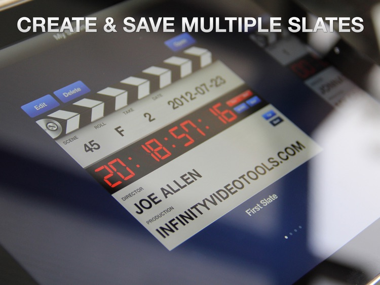 Professional Digital Clapperboard - Timecode Sync and Video Slate screenshot-2