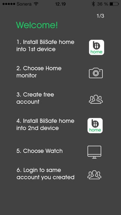 BiiSafe Home - Remote monitoring with picture and video clips