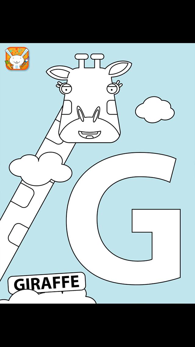 Bookee's Animal Alphabet Colouring Book screenshot two