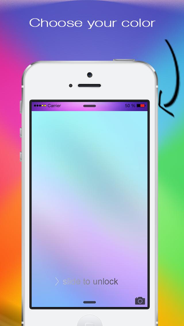 あなたの画面のロック用のカラーステータスバーの壁紙 - あなたのトップバーをポン引きのおすすめ画像3