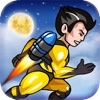 スーパーヒーローアクションJetpackのマン - ベスト超楽しいメガアドベンチャーレースゲーム (Super Hero Action JetPack Man - Best Super Fun Mega Adventure Race Game) - iPhoneアプリ