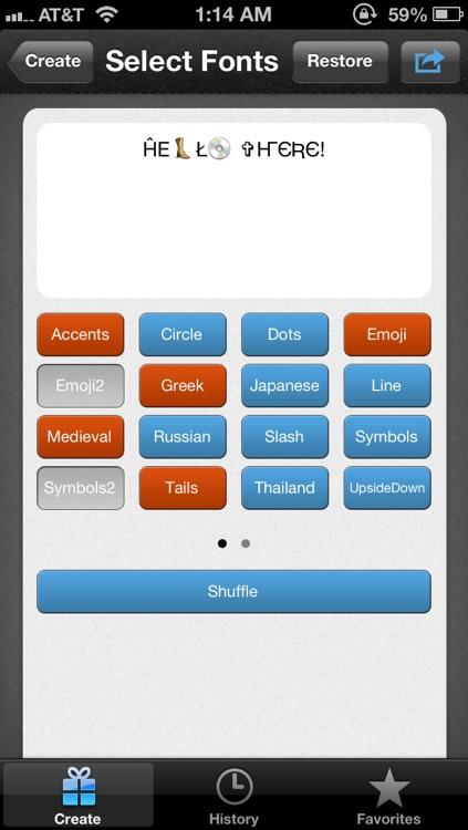 Social Fonts screenshot-3