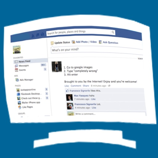 Facefull for facebook full site desktop version